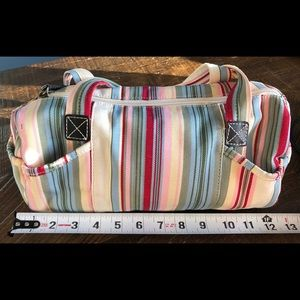 Fossil Canvas Bag in colourful Stripes